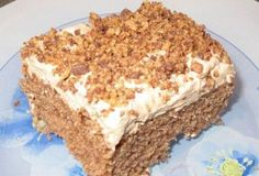 Picture of Recept - Pařížské řezy - v jednoduchosti je kouzlo Slovak Recipes, Russian Recipes, Chocolate Coconut Slice, Carrot Cake, Cheesecake Brownies, Sweet Tooth, Bakery, Deserts, Food And Drink
