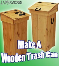 Learn Woodworking Free DIY Project Plan: Learn How to Make a Wooden Trash Can (helps keep dumpster divers at bay) Diy Projects Plans, Diy Wood Projects, Wood Crafts, Wooden Trash Can, Learn Woodworking, Free Woodworking Plans, Wood Plans, Wood Pallets, Planer