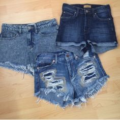 NWOT (2) and gently worn (1) BUNDLE Bundle of 3 comment for separate listings PacSun Shorts Jean Shorts