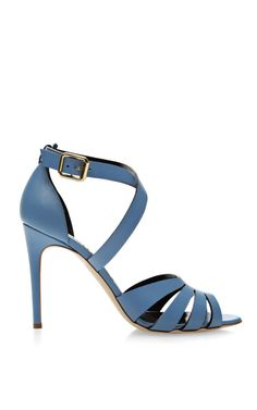 M'O Exclusive: Joan Cage Front Leather Sandals by Rupert Sanderson Now Available on Moda Operandi