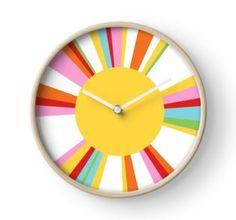 rainbow sun clock design by creative monsoon