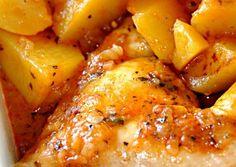 Pollo en salsa de tomate con patatas - Tumble Tutorial and Ideas Turkey Recipes, Potato Recipes, Mexican Food Recipes, Chicken Recipes, Dinner Recipes, New Recipes, Healthy Recipes, Recipe Chicken, Fish Recipes