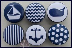 Kids Dresser Knobs Drawer Pulls Nautical by SweetPetitesBoutique Nautical Drawer Knobs, Nautical Drawers, Dresser Drawer Knobs, Drawer Handles, Drawer Pulls, Cabinet Knobs, Nautical Prints, Nautical Nursery, Nursery Decor