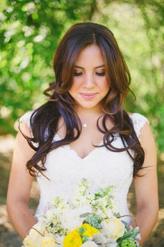 beautiful bride - love her hair and make and wait till you see her bouquet! // Closer To Love Photography