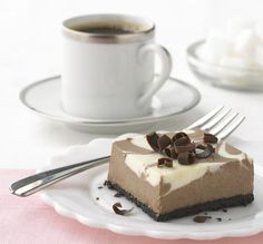 Philadelphia Chocolate-Vanilla Swirl Cheesecake squares are perfect for sharing and are a cinch to make!