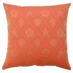 "Create a coastal-inspired retreat at home with this eye-catching essential, brimming with chic style and summer-ready flair.   Product: Set of 2 pillowsConstruction Material: 70% Cotton and 30% polyesterColor: OrangeFeatures:  Knife edgeMade in the USANautical style Dimensions: 17""  x 17"" eachCleaning and Care: Hand or spot clean only"