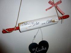 KÜCHE * Mit Liebe am Werk * Türschild Wanddeko von farbtupferl auf DaWanda.com