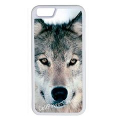 CellPowerCasesTM Wolf Face iPhone 6 (4.7) V1 White Case ($9.98) ❤ liked on Polyvore featuring accessories, tech accessories and white