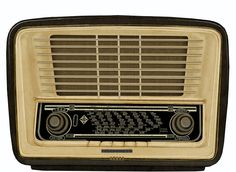 radio, antigua, telefunken, dibujo