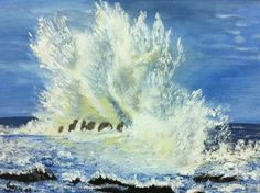 Sea spray, Iris, Oil on canvas End Of Year Party, Sea Spray, Art Party, Artist At Work, Iris, Oil On Canvas, Student, Paintings, Outdoor