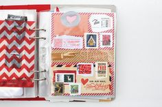 amy tangerine december daily - What a fun idea to document the stamps that come on letters received.
