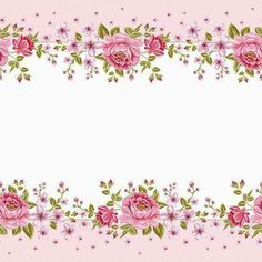 This is a pretty rose-and-pink border. I think it could be used as a gift tag or a place card. Vintage Diy, Vintage Labels, Vintage Paper, Flower Backgrounds, Wallpaper Backgrounds, Planner 2018, Decoupage, Frame Background, Borders And Frames