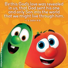 God's love never fails! 1 John 4, Object Lessons, Bible Lessons, Veggietales, Vacation Bible School, Bible Verses Quotes, I Party, Beautiful Words, Gods Love