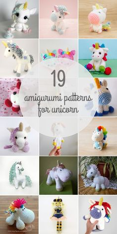 Amigurumi Patterns For Unicorn