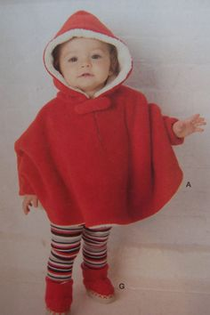 Babies' hooded poncho has tab closure at neck; hat in sizes S M and L has ear flaps. Diaper covers have embellishment options. Attach fabric uppers to baby slipper soles to create cozy booties. Sewing Kids Clothes, Sewing For Kids, Baby Sewing, Diy Clothes, Simplicity Sewing Patterns, Baby Patterns, Baby Poncho, Hooded Poncho, Baby Girl Fashion