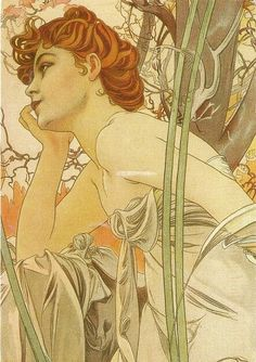 (Czech) Chocolat ideal, 1897 by Alphonse Mucha Art nouveau. Art Nouveau Mucha, Alphonse Mucha Art, Art Nouveau Poster, Art And Illustration, Illustrator, Jugendstil Design, Inspiration Art, Fine Art, Art Design