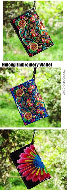 $23 ( Free Shipping Worldwide ) - Hmong Embroidery Wallet is Available in 3 colours from Pasaboho