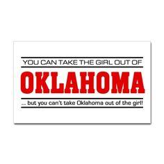Oklahoma girl sticker