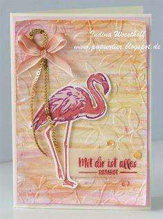 Hier scrapt und stempelt das papiertier: Mit Dir ist alles rosarot — Flamingo-Fantasie