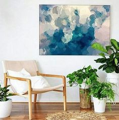 The Design Labb created this beautiful vignette featuring our Blue Thursdays canvas print from the Alisa and Lysandra collection.  http://www.unitedartworks.net/artwork/alisa-lysandra/blue-thursdays-original-art