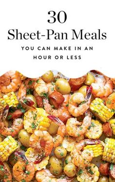 Things we love: eating delicious food. Things we hate: cooking for hours, then doing 100 dishes. Luckily, these things aren't mutually exclusive. Here are 30 sheet-pan meals you can make in under an hour. Quick Healthy Meals, Healthy Cooking, Cooking Recipes, Healthy Recipes, Meal Recipes, Recipies, Easy To Cook Meals, Simple Meals, Cooking Food