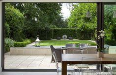 clipped evergreen and formal structures - contemporary garden by buckleydesignassociates Garden Design London, London Garden, Contemporary Garden Design, Landscape Design, Outdoor Rooms, Outdoor Gardens, Formal Gardens, Outdoor Living, Dream Garden