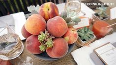 Peaches and Succulents Wedding - Mariage pêches et succulentes | International Wedding Institute