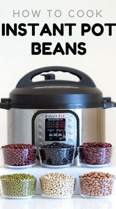 healthy cooking Here is your fail-proof guide for Instant Pot Beans. Instant Pot black beans, Instant Pot pinto beans, instant pot kidney beans, and many more, basically an encyclopedia about cooking beans in the instant pot. Power Pressure Cooker, Instant Pot Pressure Cooker, Pressure Cooker Recipes, Pressure Cooking, Chef Gourmet, How To Cook Beans, Cook Beans In Crockpot, Instant Pot Dinner Recipes, Kitchens