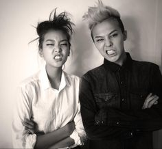"""""""After shooting today... 9 year-old gap between Ho Jung.... and me...."""" G-Dragon's Twitter"""