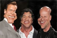 The main heroes of 'The Expendables' by StudioCandia on DeviantArt