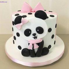 Panda Birthday Cake Happy Birthday Cake Child First Birthday Party Panda Style Cake. Panda Birthday Cake Panda Holding Birthday Cake Vector Clip Art Illustration With. Baby Cakes, Girl Cakes, Baby Shower Cakes, Bolo Fondant, Fondant Cakes, Cupcake Cakes, Simple Fondant Cake, Panda Birthday Cake, Baby Birthday Cakes