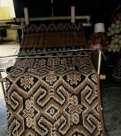 Traditional Ikat from Toraja, Sulewesi Indonesia. Kain Tenun Toraja