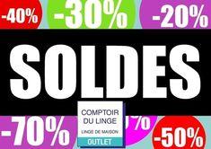 🔥 🔥 🔥  C'est les soldes au Comptoir du Linge !!! Wii, Logos, Counter Top, Linens, Logo