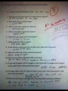 This tickled me so because all of his answers made PERFECT SENSE!!! Hollernnnn!
