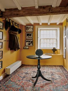Yellow Painted Rooms, Yellow Paint Colors, Yellow Painting, Painted Walls, Yellow Hallway, Yellow Accent Walls, Yellow Interior, Yellow Houses, Boho Home