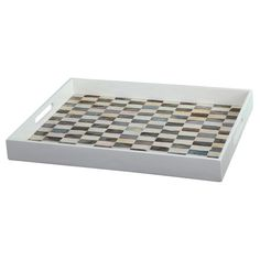 """A&B Home Mother Of Pearl Tray (18X14X2""""),"""