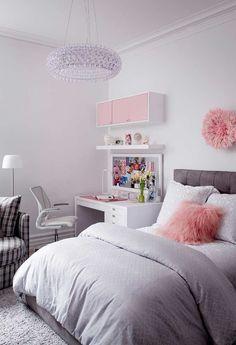 Pink bedroom design, pink bedroom decor, bedroom decor for kids, bedroom . Pink Bedroom Design, Pink Bedroom Decor, Pink Bedrooms, Girl Bedroom Designs, Bedroom Themes, Bedroom Sets, Home Bedroom, Master Bedroom, Ikea Teen Bedroom