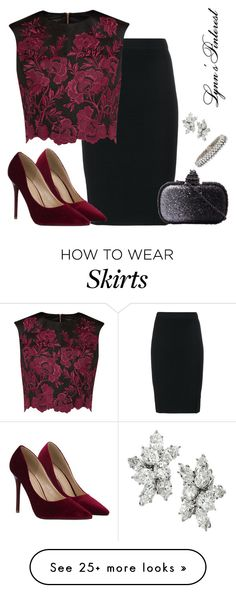 """Crop Top & Skirt -  #3537"" by lynnspinterest on Polyvore featuring Jonathan Simkhai, Ted Baker, Harry Winston, Van Cleef & Arpels, women's clothing, women, female, woman, misses and juniors"