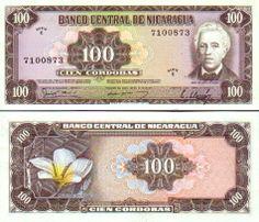 Nicaragua  100 Cordobas D.1979 J.D. Estrada, flower