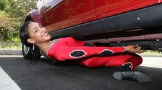 Shemika Charles Limbo Queen Reaching New Lows: Record Breaker Limbos Under Car
