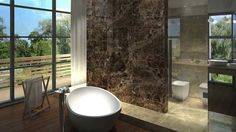 Dark Emperador Marble Tile and Mosaic Collection in our New Jersey Tile www.allmarbletiles.com