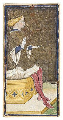 Bonifacio BEMBO  Brescia? 1420s? – Milan?  King of cups  [Re di coppe]  1440s