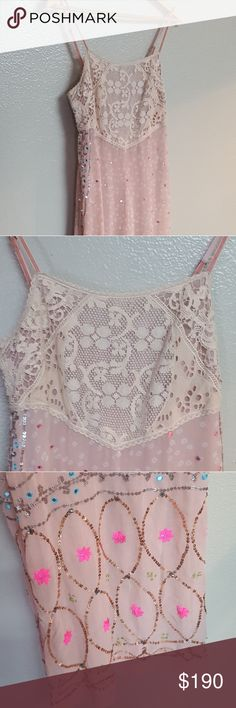 NWT Free people blush comb outfit Absolutely gorgeous  Paid 300+ Small A little to short for me.  But it has adjustable straps.  My loss your Gain! Free People Dresses