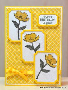 JanB Handmade Cards Atelier: Last Vellum Poppy Card