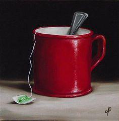 """""""Mug of Tea No. 2"""" - Original Fine Art for Sale - © Jane Palmer"""