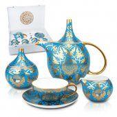 """Tea sets """"Shughyla"""", Kazakhstan. The tea set is produced by a world famous brand Fine Bone China."""