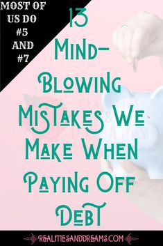 Are you paying off debt? Avoid these mistakes at all costs to make your journey easier. These strategies will work on one income or even if your living paycheck-to-paycheck. These mistake lessons will Fix Your Credit, Build Credit, Credit Score, Chase Credit, Small Business Credit Cards, Credit Card Design, Rebuilding Credit, Money Sign, Credit Card Application