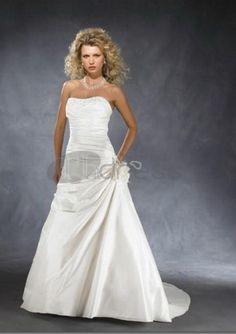 Abiti da Sposa Senza Spalline-Principessa treno taffettà abiti da sposa senza spalline