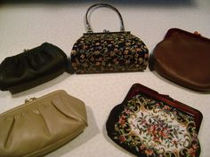 VINTAGE PURSES TAPESTRY Small Lovely Set of Five by FamilyandFaith,