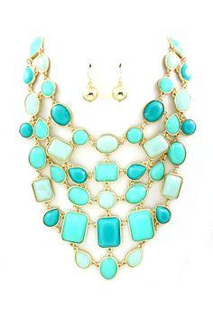 Turquoise Sienna Statement Necklace